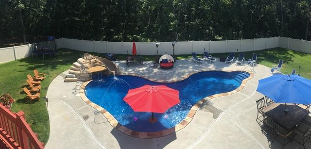 Custom In-ground Radiant Pool Installation in Jackson, NJ - After Photo