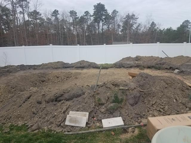 Doughboy Pool Installation in Barnegat, NJ - Before Photo