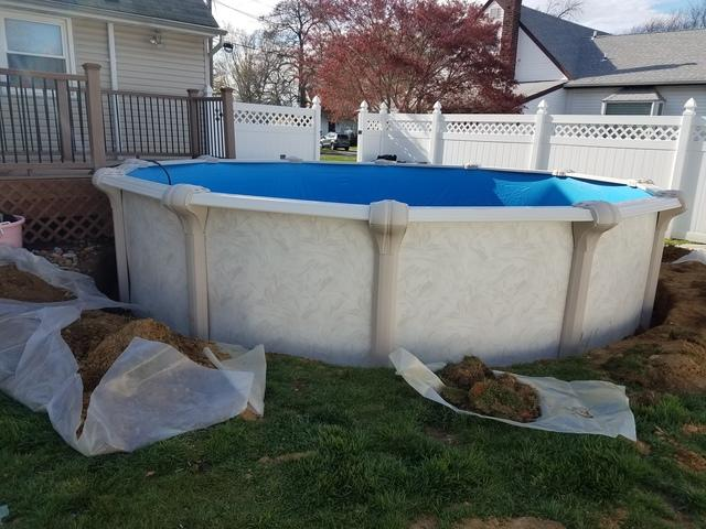 Above Ground Pool Replacement in Belford, NJ - After Photo
