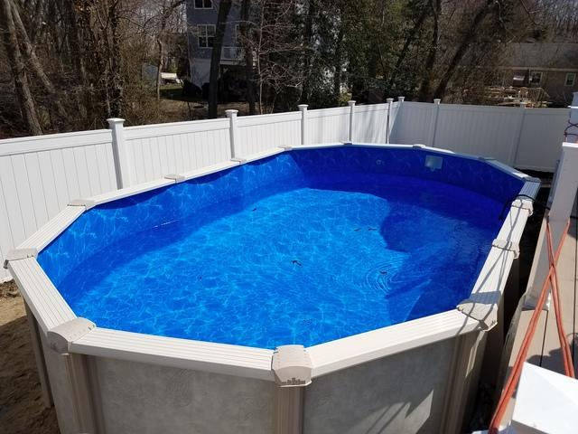 Above Ground Pool Installation with Hand Dig in Lanoka Harbor