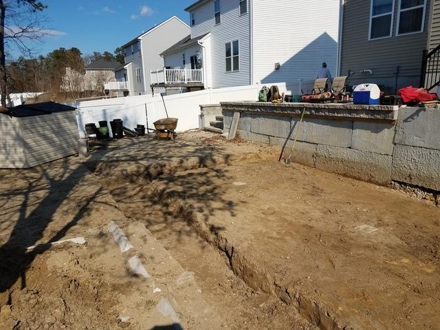 On Ground Radiant Pool Installation in Beachwood, NJ - Before Photo