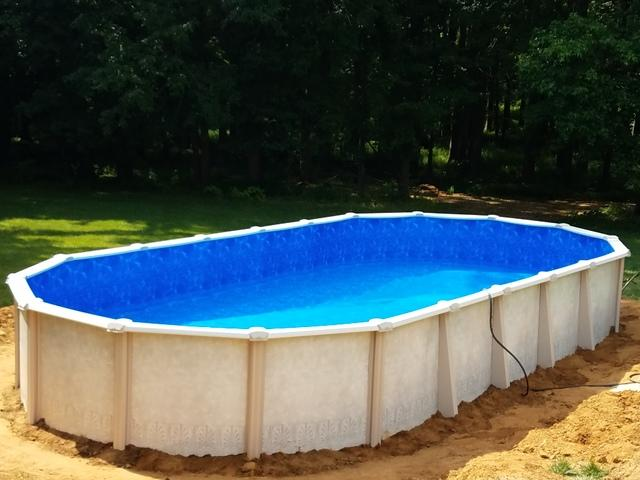 Doughboy Pool Installation in Upper Freehold, NJ - After Photo