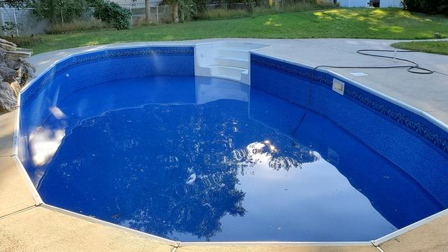 Inground Pool Liner Replacement in West Creek, NJ - After Photo
