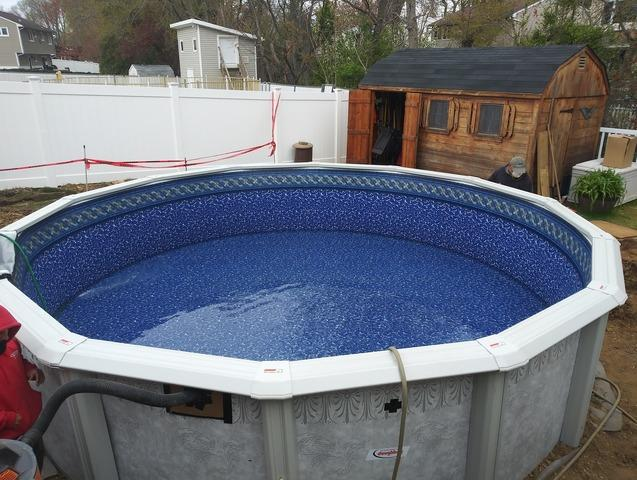 Above Ground Pool Installation in Hazlet, NJ