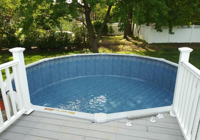 Liner Replacement on an Above Ground Pool in Middletown, NJ