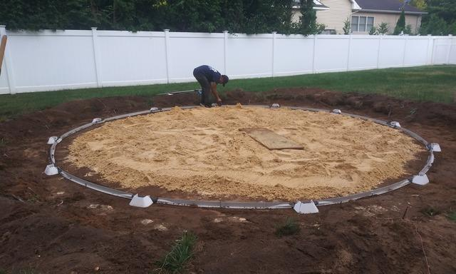 Above Ground Pool Installation in Middletown, NJ Backyard
