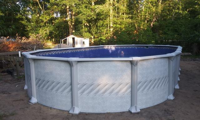 Above Ground Pool Installation in Jackson, NJ Backyard