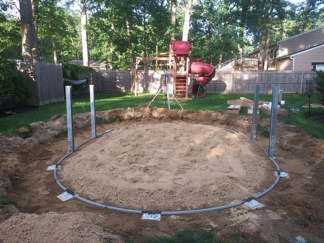 Above Ground Pool Installation in Browns Mills, NJ - Before Photo