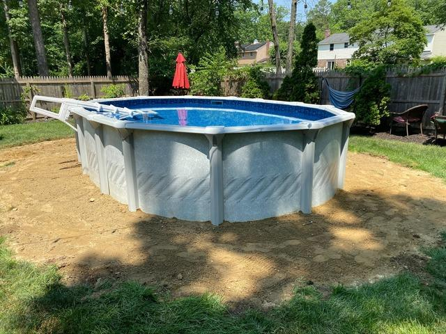 Above Ground Pool Installation in Browns Mills, NJ - After Photo
