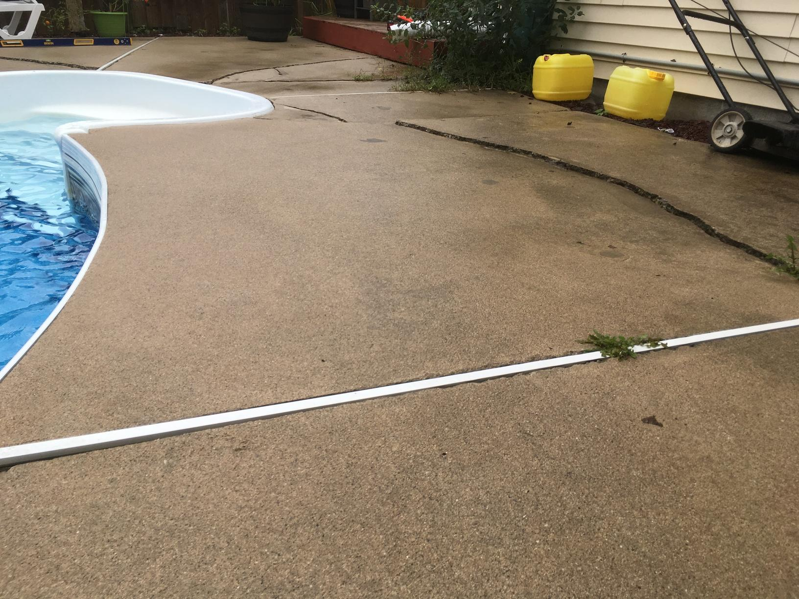 Pool Deck raising in London, Ontario. - Before Photo