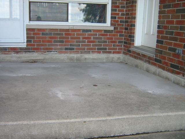 Raised Settled Back Patio in London Ontario - Before Photo