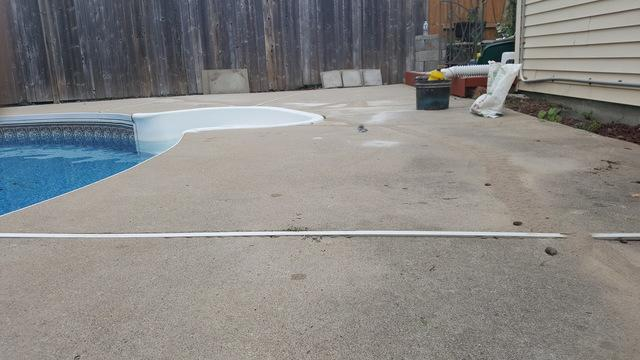 Pool Deck raising in London, Ontario. - After Photo
