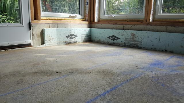 Raising concrete in Lucan, Ontario. - After Photo