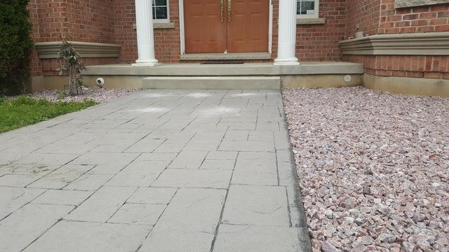 Raising a walkway in Sparta, Ontario - After Photo
