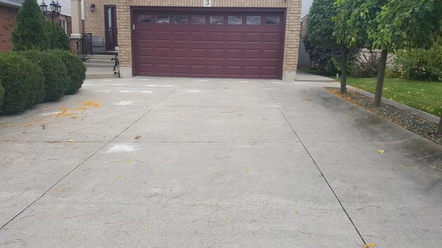 Example of raising a driveway in Stoney Creek, Ontario