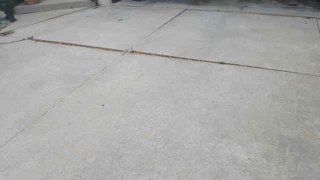 Example of raising a driveway in Stoney Creek, Ontario - Before Photo