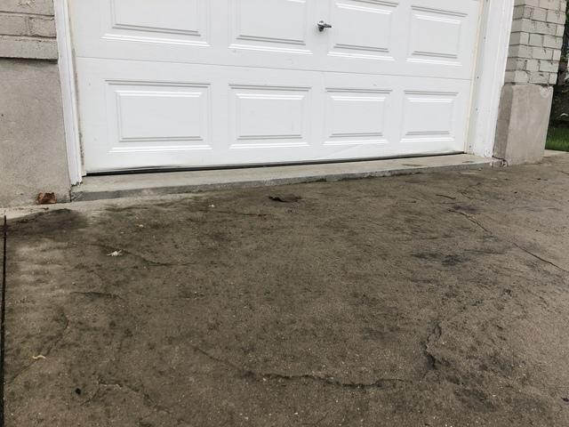 Eliminating The Tripping Hazard To The Garage in St. Thomas, ON - Before Photo