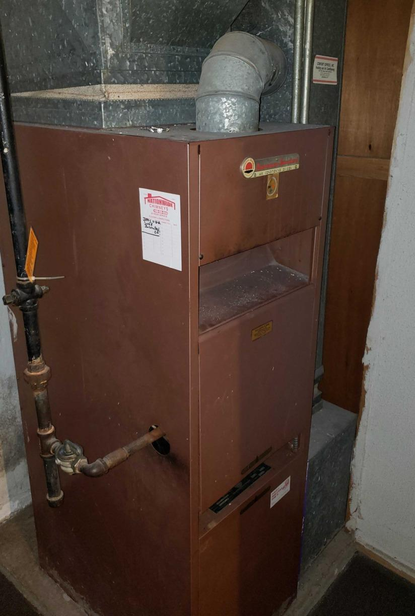 Furnace Replacement in Hyde Park, MA - Before Photo