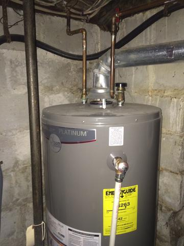 Hot Water Heater Replacement in Natick, MA - Before Photo
