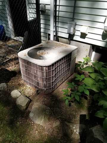 Central AC Replacement in Sharon, MA - Before Photo