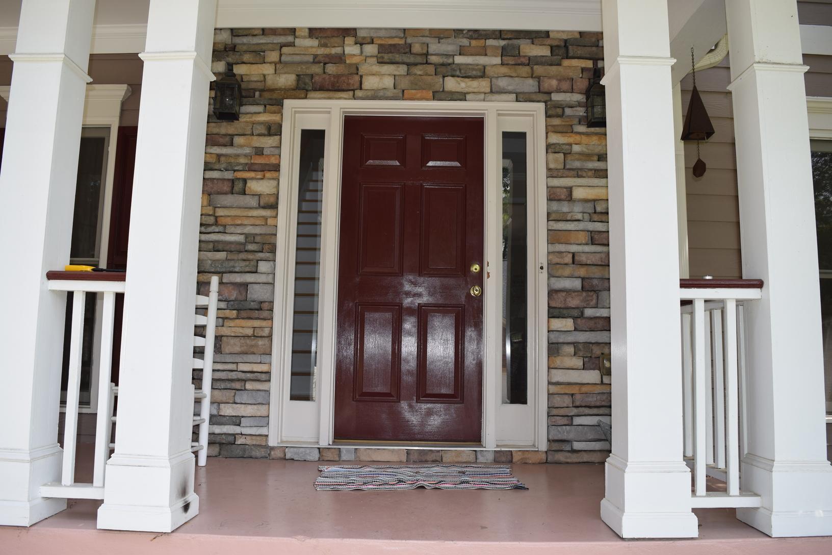 Woodstock Entry Door Conversion - Before Photo