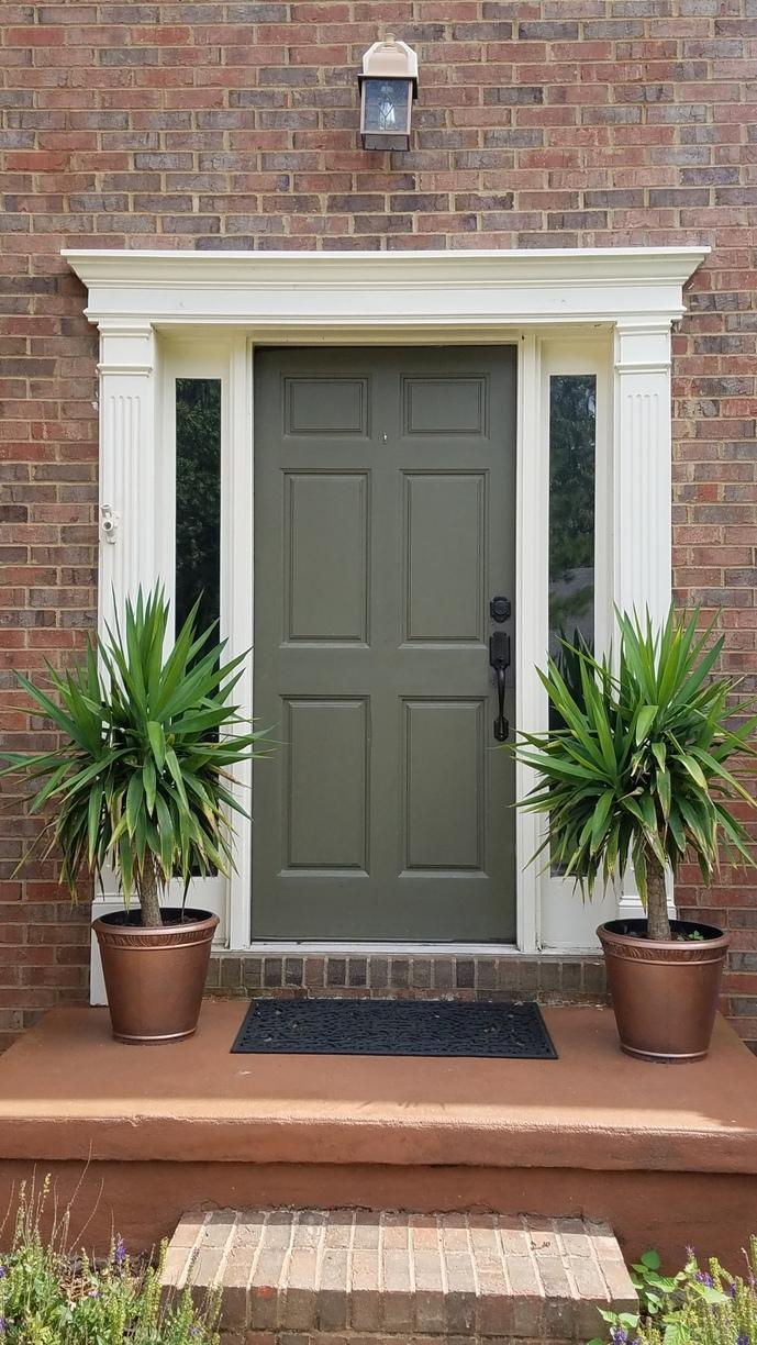 New ProVia Heritage Entry Door in Kennesaw, GA - Before Photo