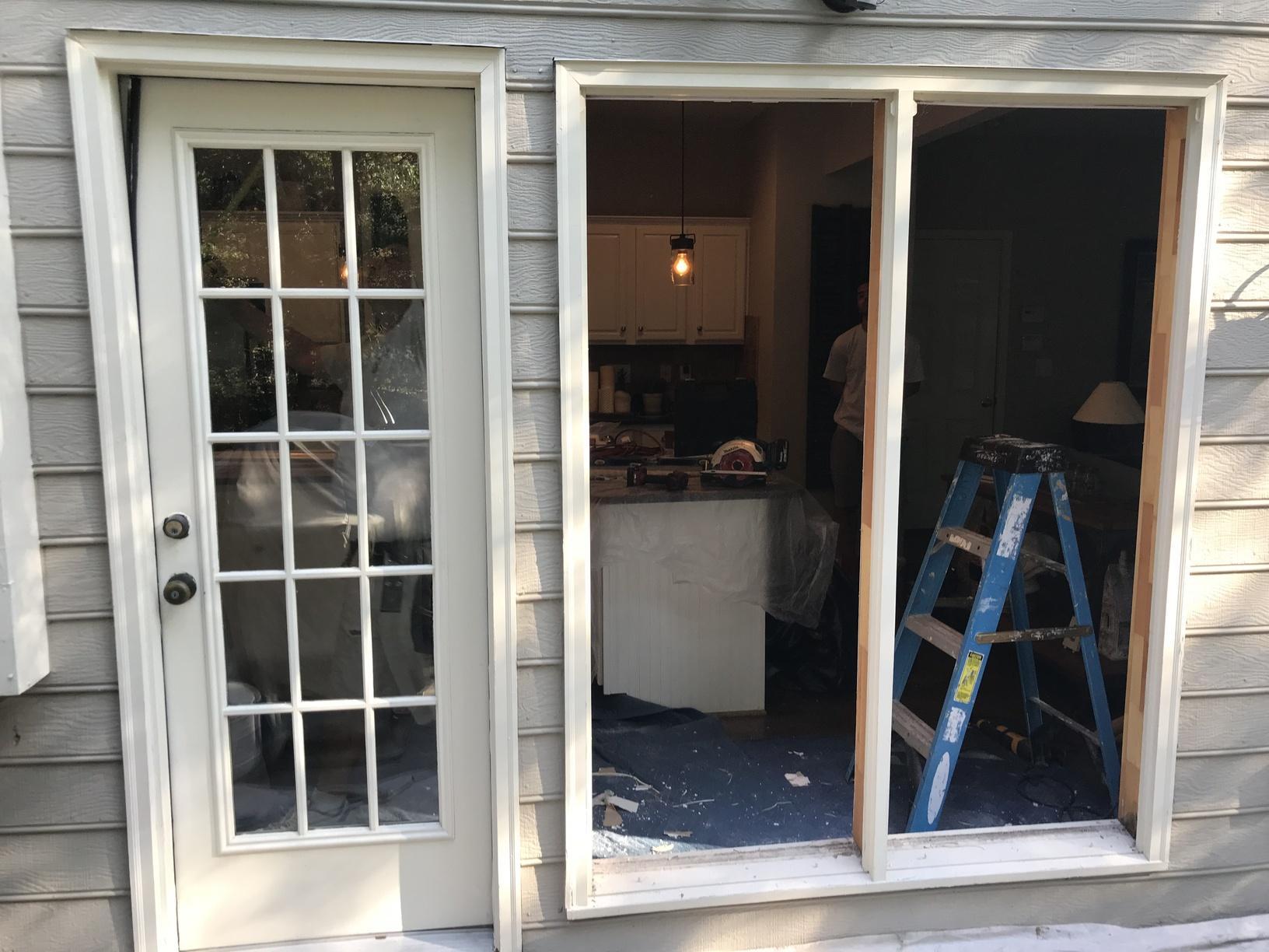 New Great Lakes Window ComfortSmart Premier Series Slider Door - Before Photo