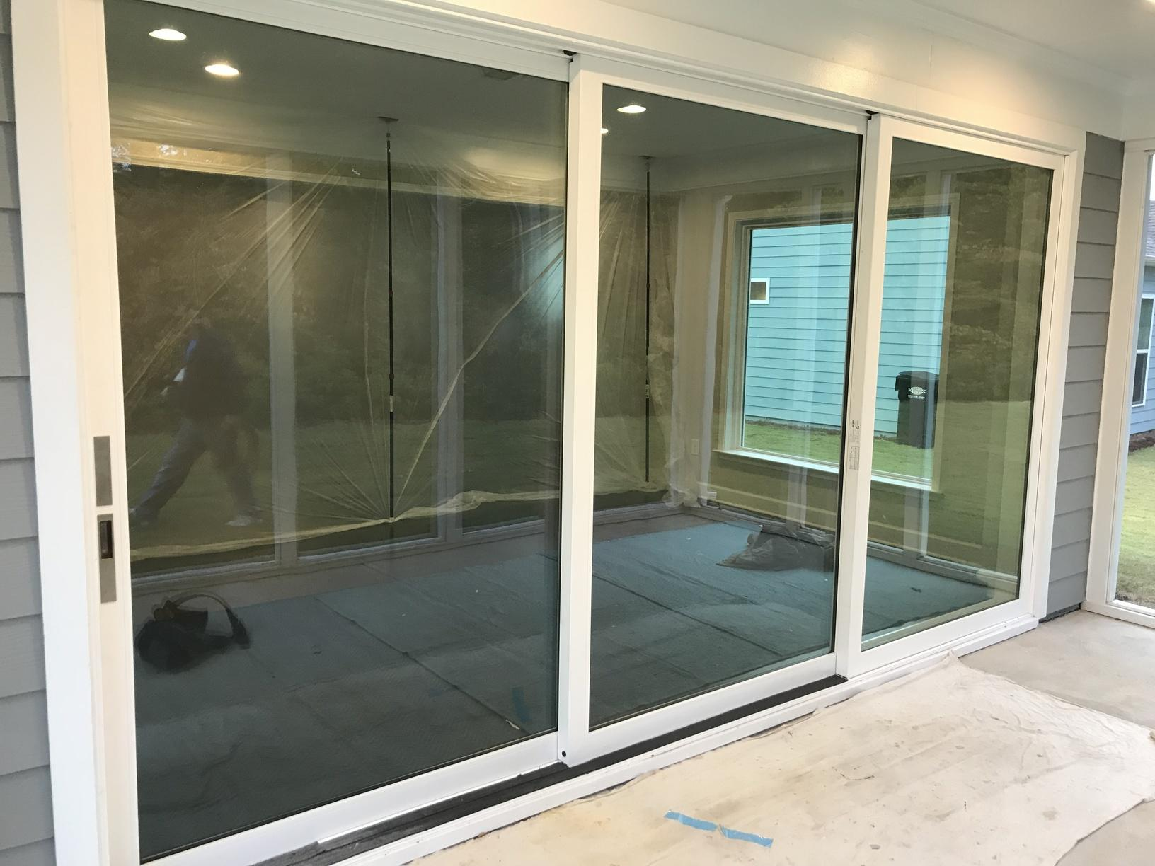 Sliding Door Conversion in Kennesaw - Before Photo