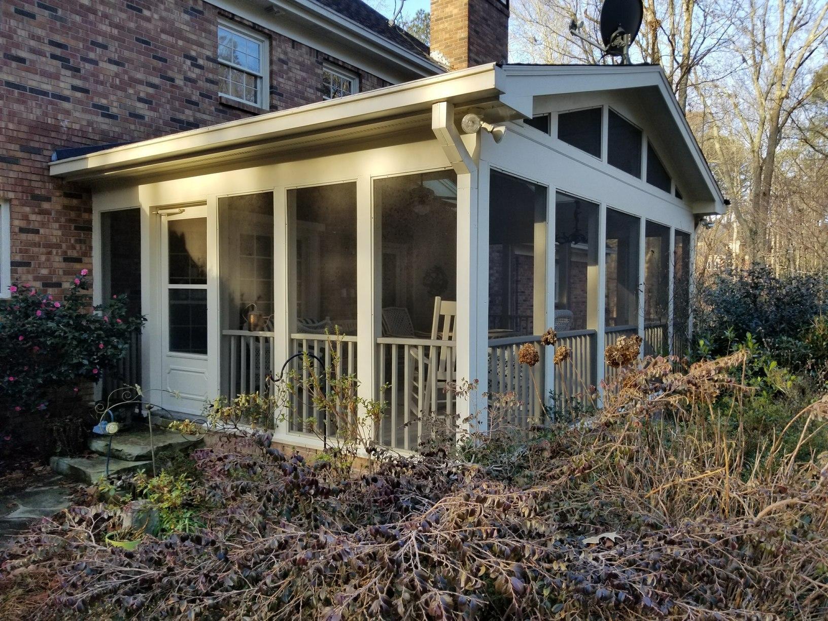 Porch in Alpharetta, GA Gets a New Feel - Before Photo