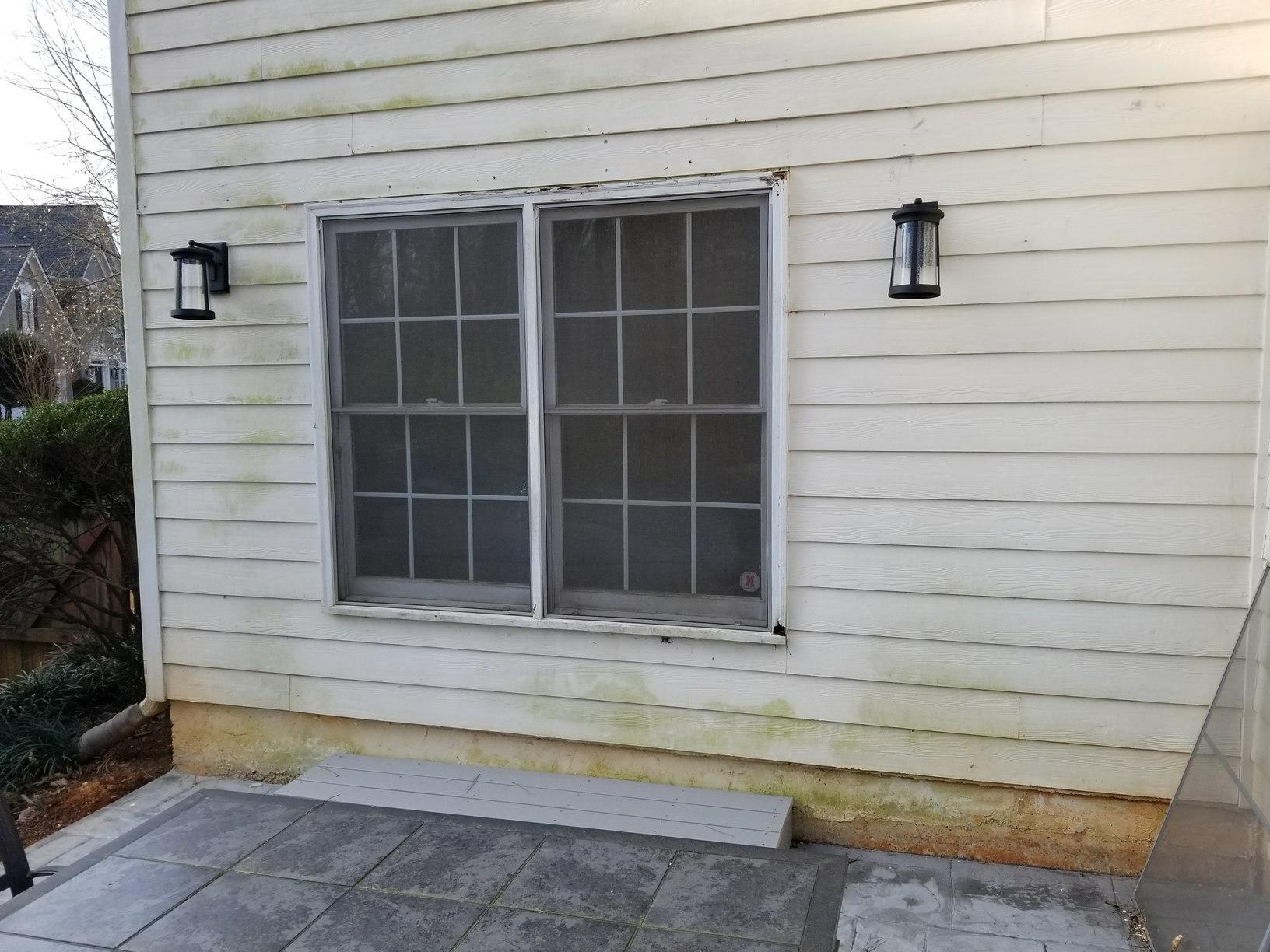 Window to Door Transformation - Before Photo