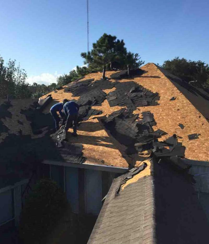 Roof Replacement in Friendswood, TX - Before Photo