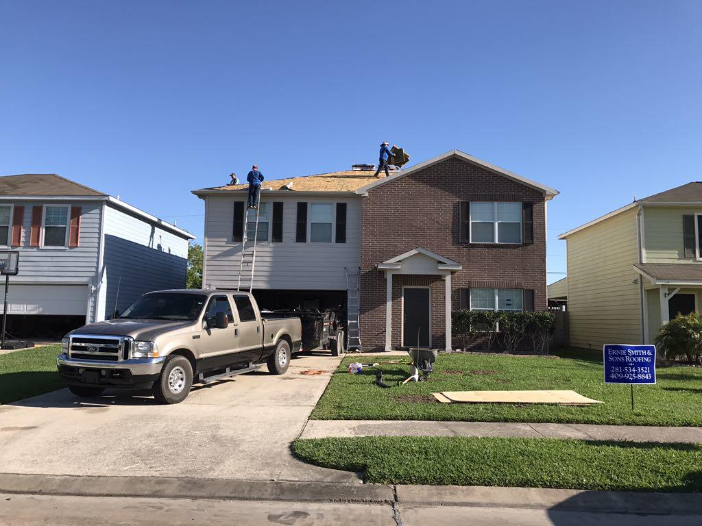 New Roof in Texas City, TX - Insurance Claim - Before Photo