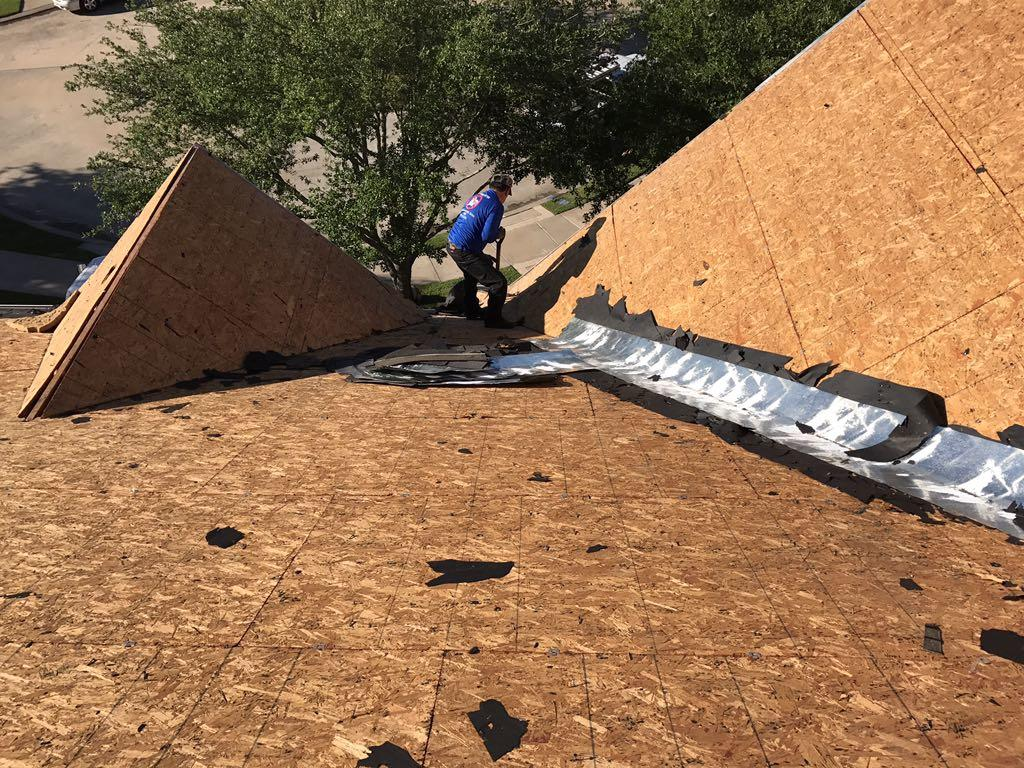 Insurance Claim - New Roof in Manvel, TX - Before Photo