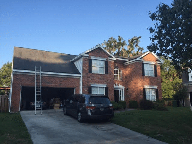 Roof Replacement from Hurricane Damage in Savannah, GA - Before Photo