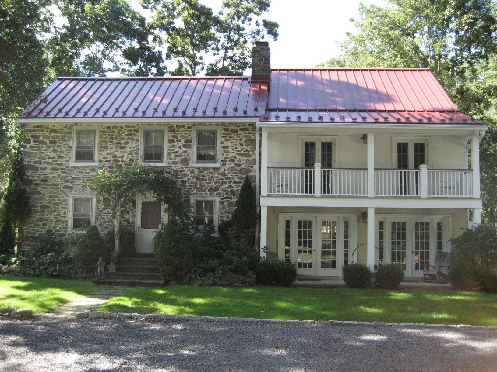 Metal Roof Replacement on Kintnersville, PA Historic Home - After Photo