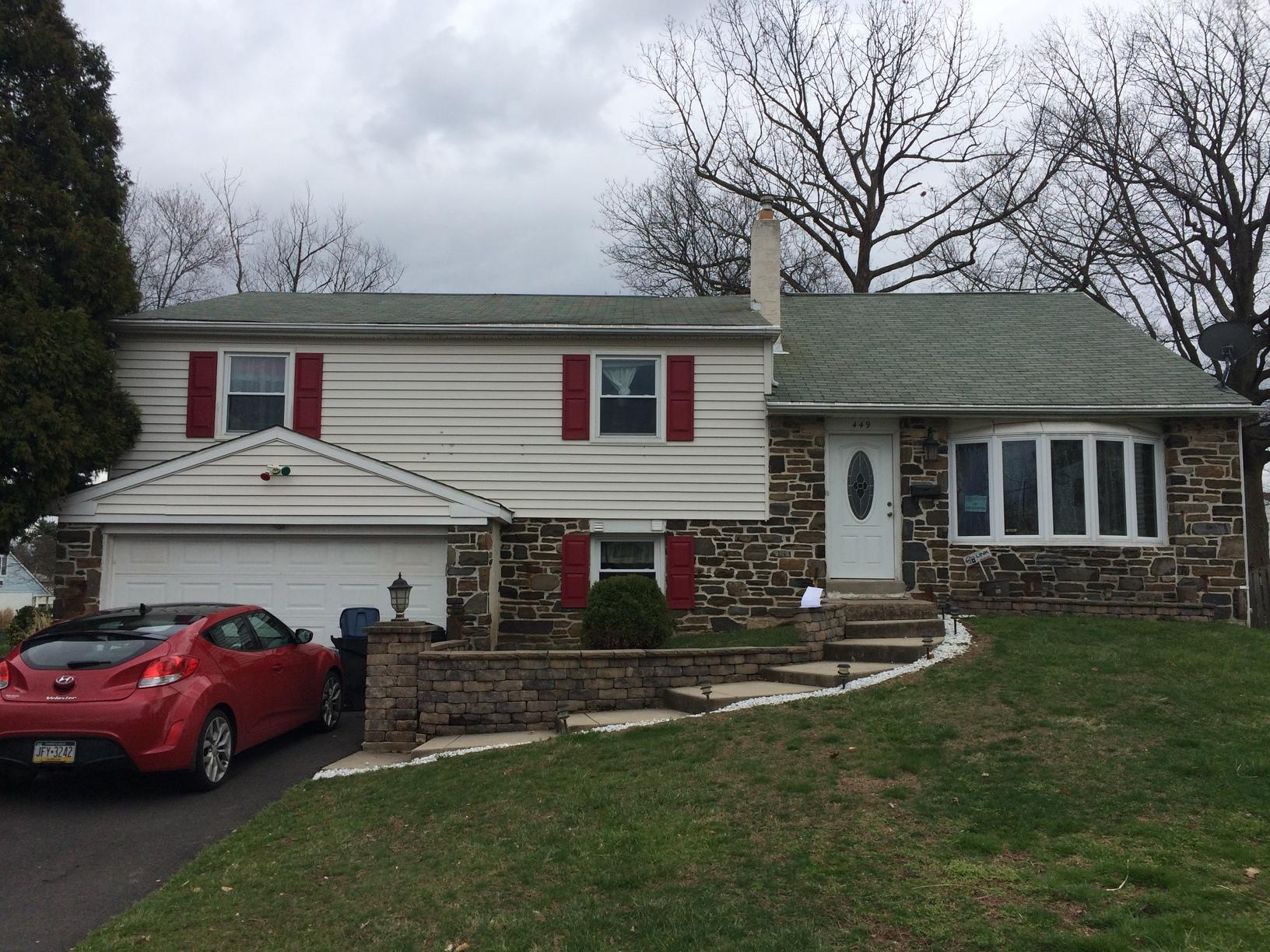 Owens Corning Roof and New Siding Installation in Warminster, PA - Before Photo