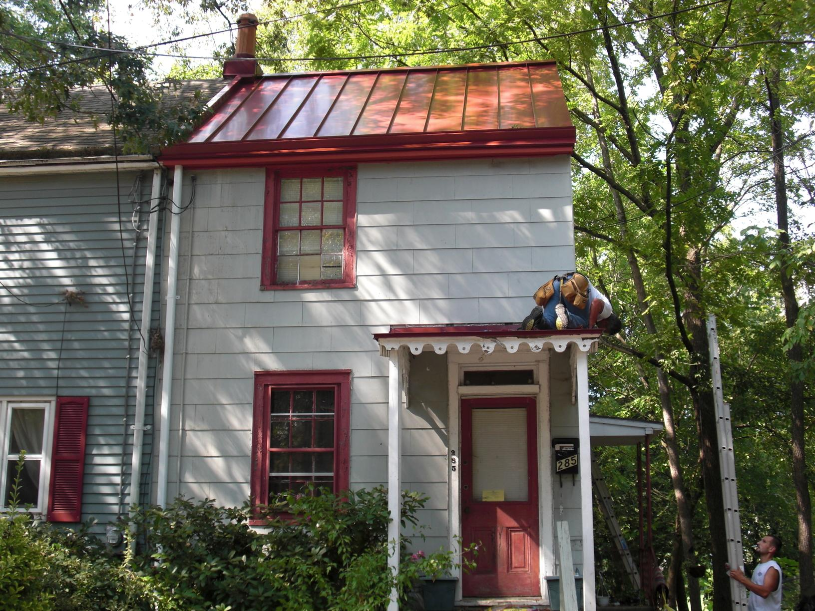 Metal Roof Install on Historic Home in Haddonfield, NJ - After Photo