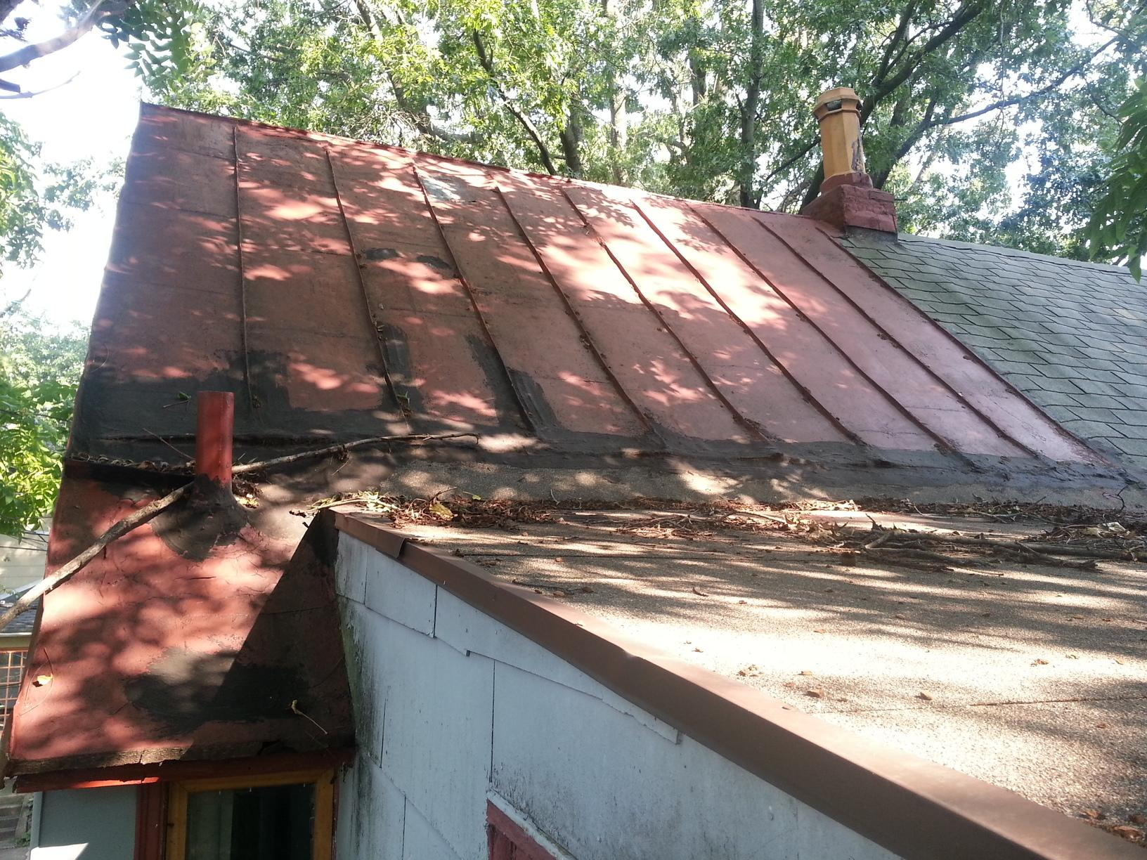 Metal Roof Install on Historic Home in Haddonfield, NJ - Before Photo