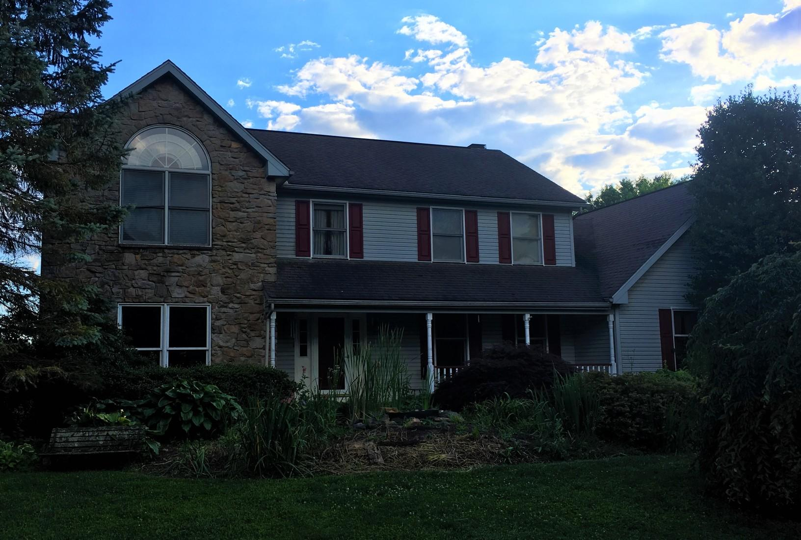 Metal Slate Roof with Standing Seam Accent in Landenberg, PA - Before Photo