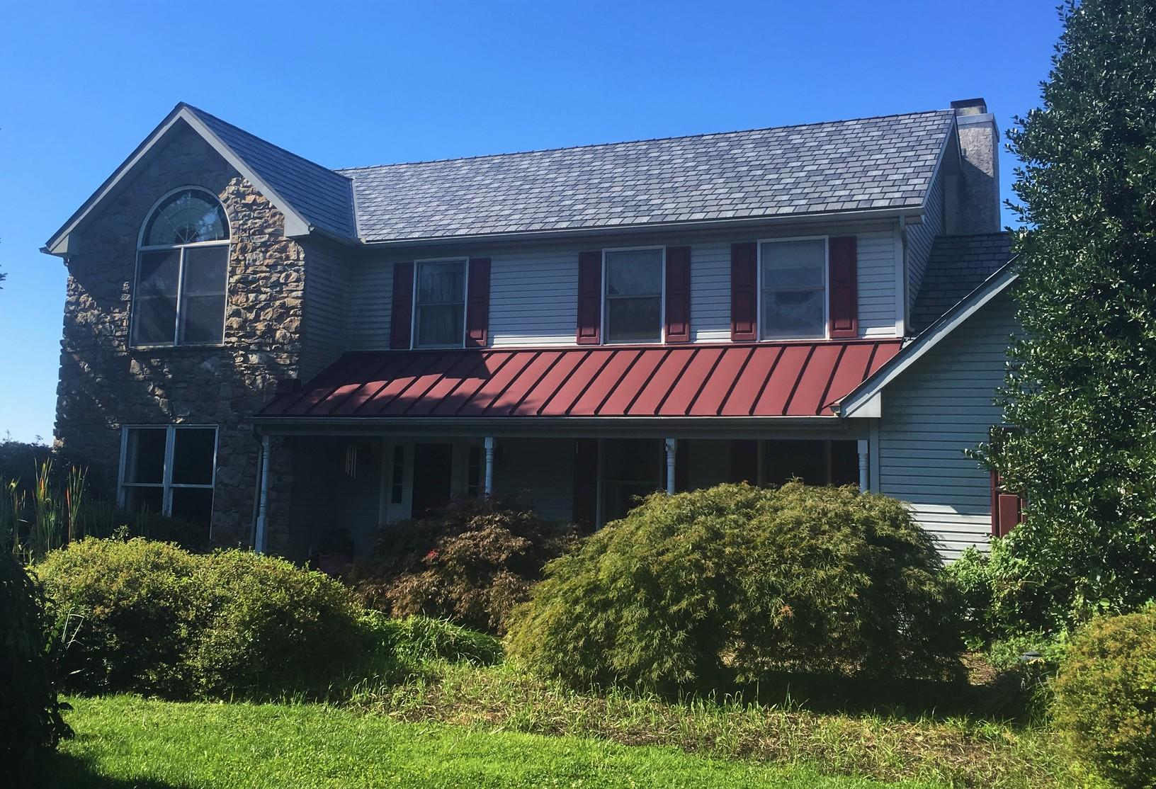 Metal Slate Roof with Standing Seam Accent in Landenberg, PA - After Photo