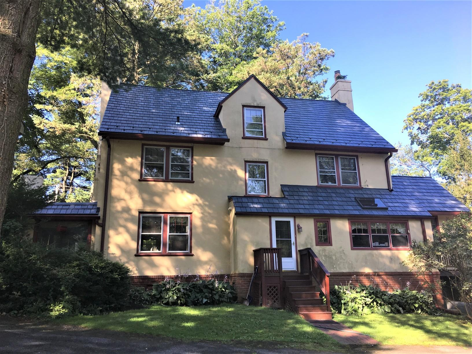 Metal Slate Roof Restoration in Villanova, PA - After Photo