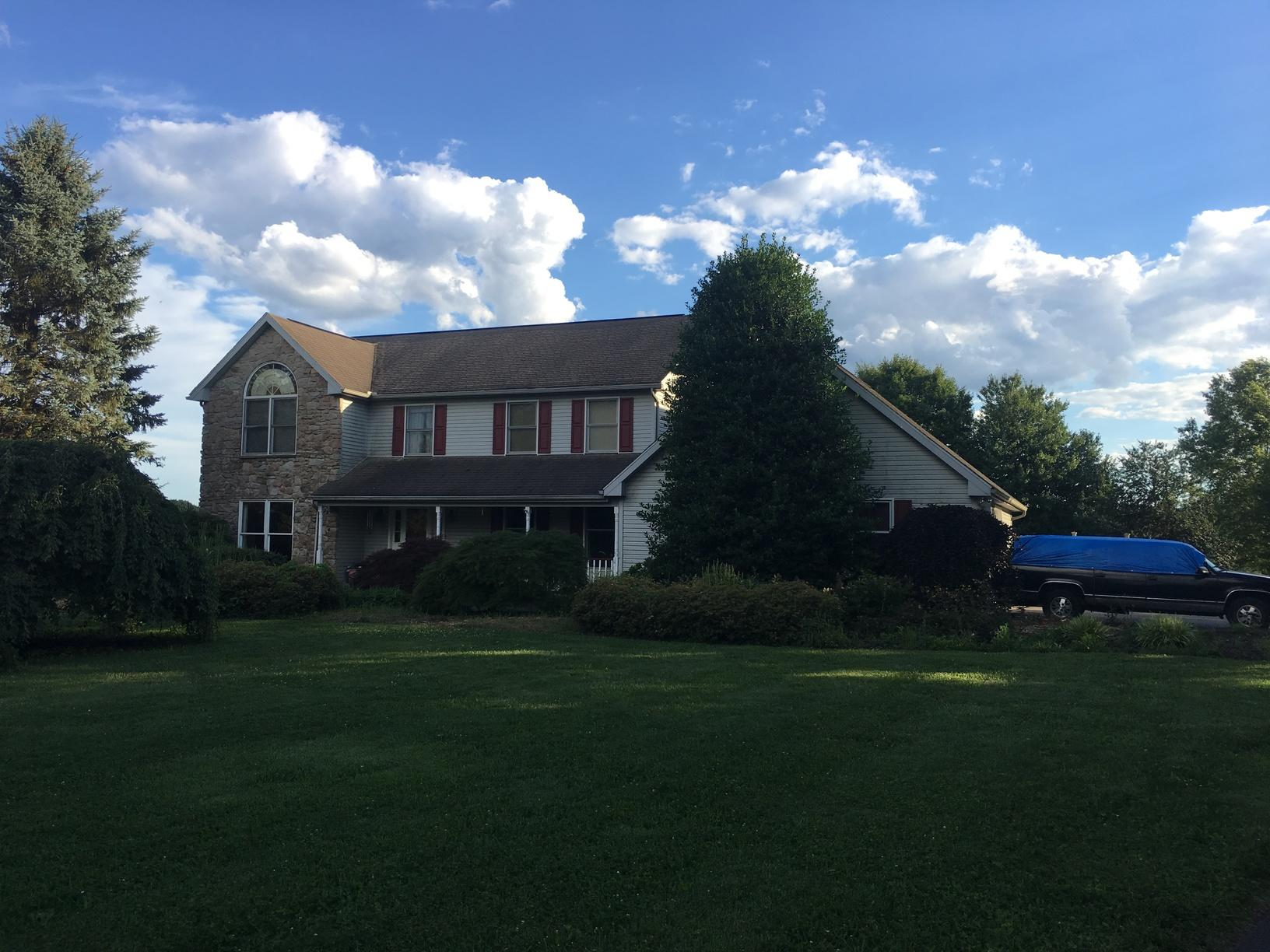Metal Slate and Standing Seam Roof Installation in Cochranville, PA - Before Photo