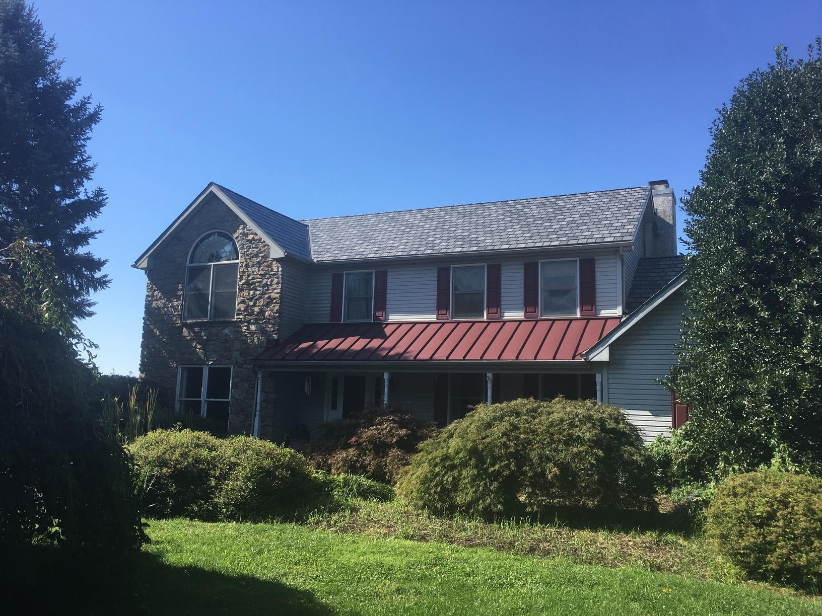 Metal Slate and Standing Seam Roof Installation in Cochranville, PA - After Photo