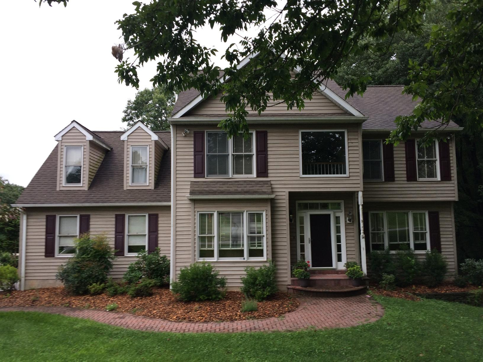 Arctic White James Hardie Batten Board Fiber Cement Siding Installation in Oxford, PA - Before Photo