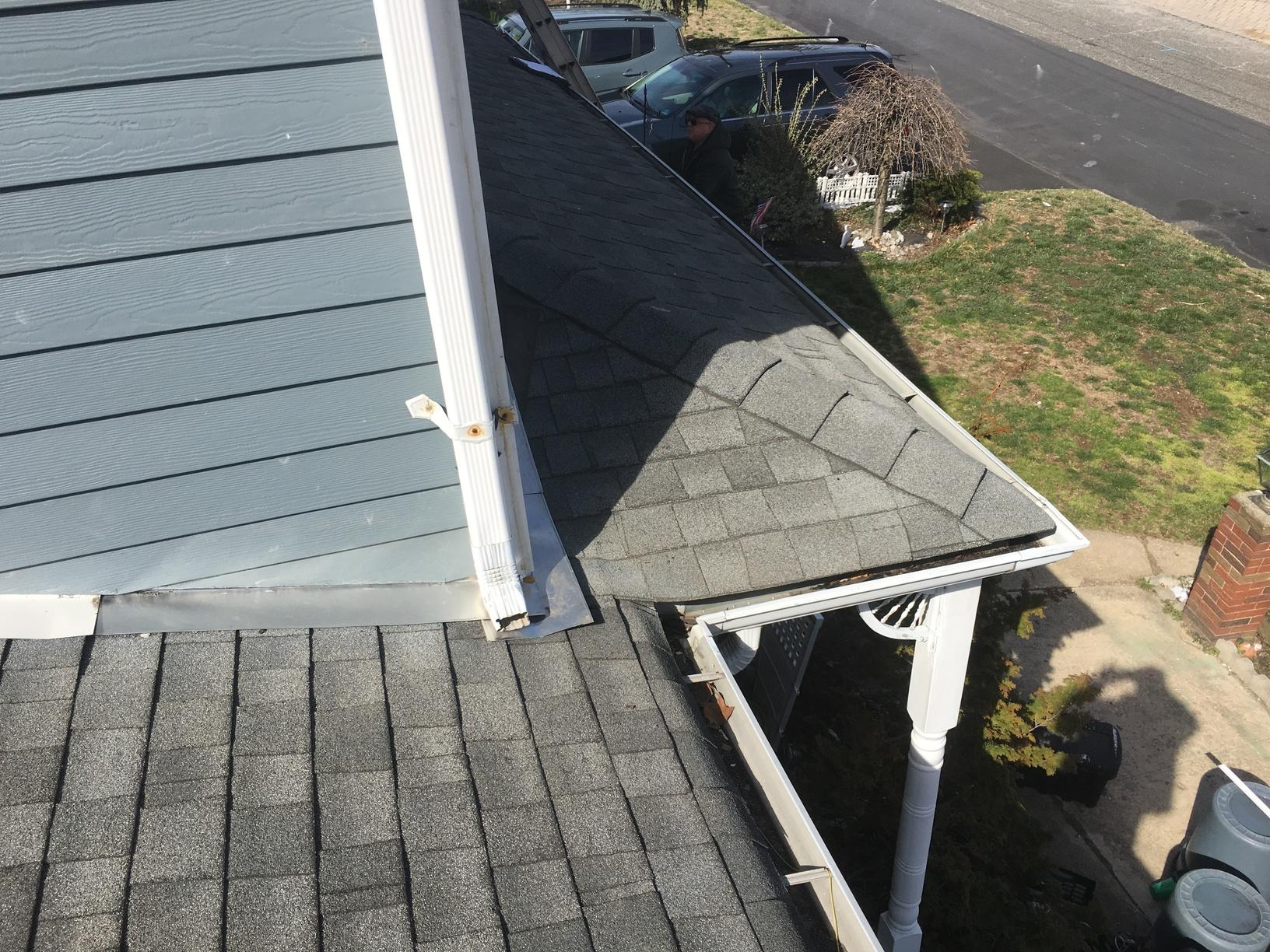 Charcoal Grey Drexel Standing Seam Metal Roof Installation in Parlin, NJ - Before Photo