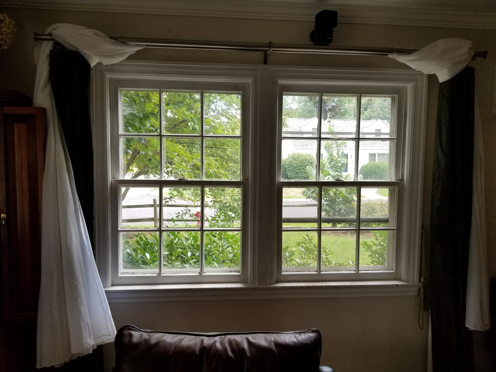Custom low E3 Insulated Marvin Infinity Casement and Picture with Simulated Divided Lites Window Installation in Tenafly, NJ - Before Photo