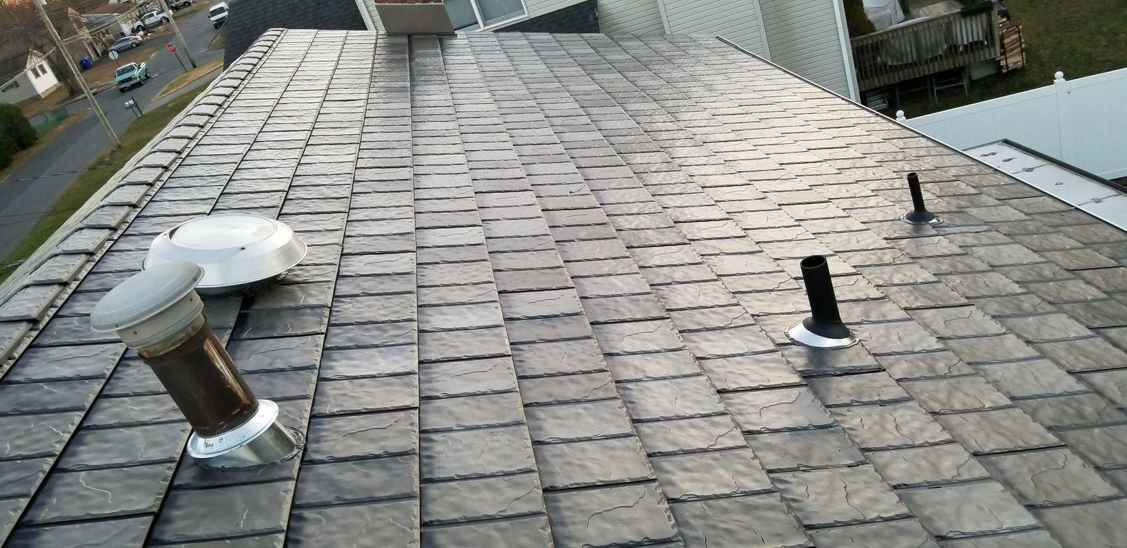 T-Tone Blend Classic Metal Slate Roof Installation in Brick, NJ - After Photo