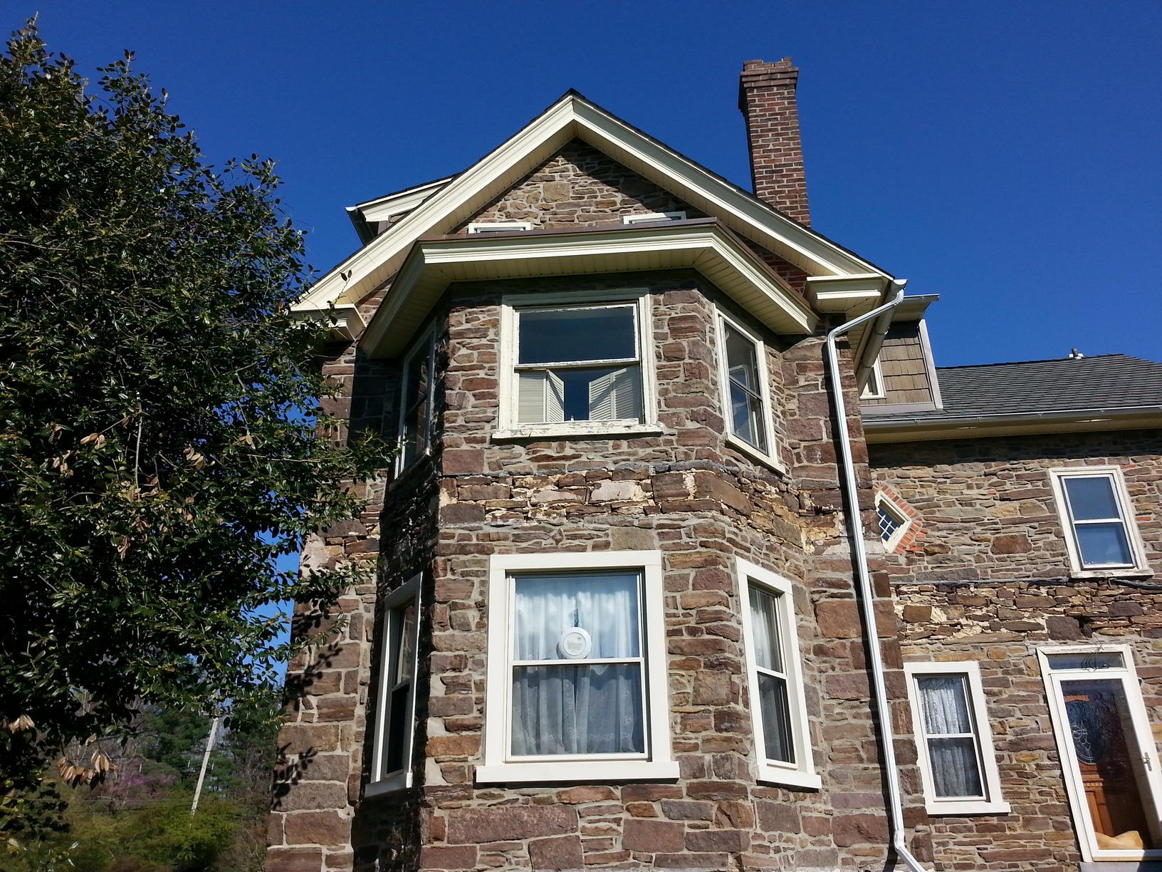 Marvin Infinity Fiberglass with Cashmere Exterior and White Interior Installation on Historic Home in Lansdale, PA - Before Photo