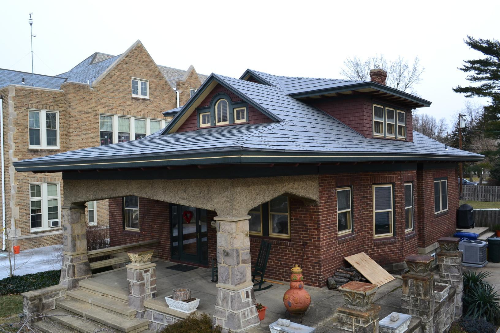 Sierra Slate Grey Tamco Metalworks Metal Slate Roof Installation in Riverton, NJ - After Photo