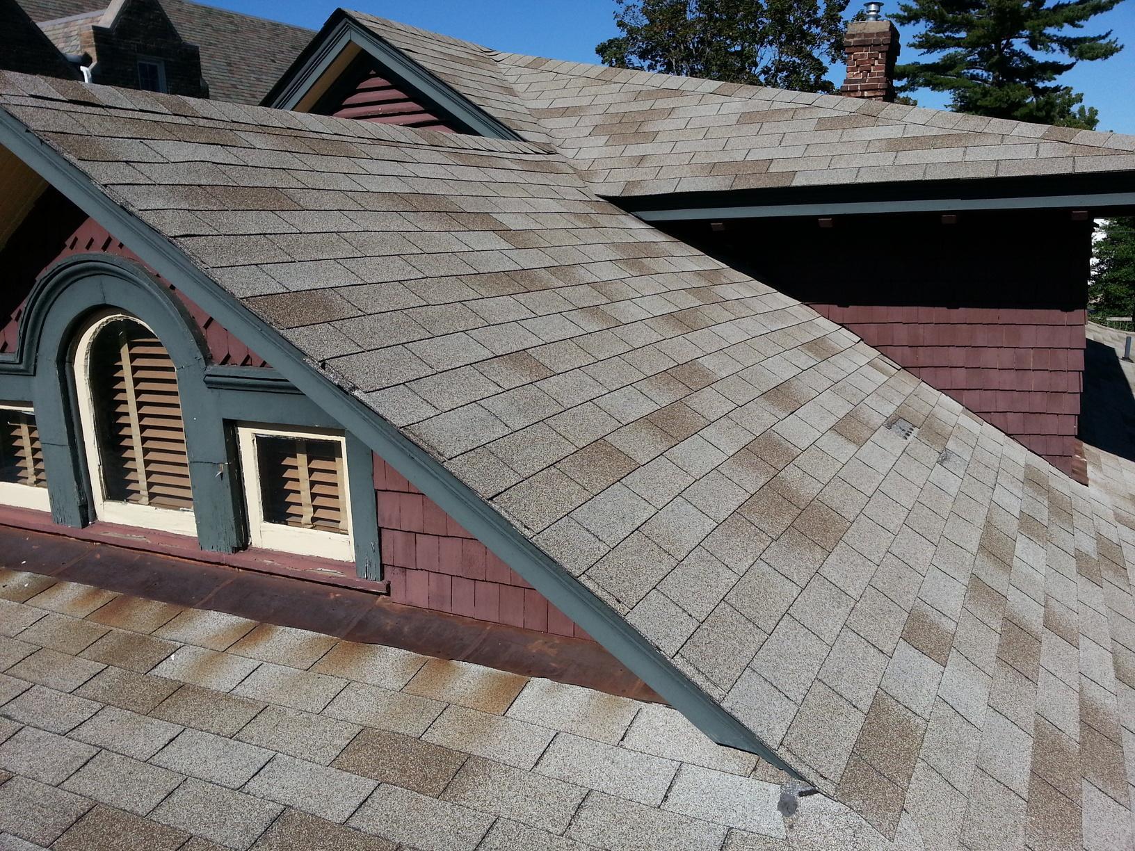 Sierra Slate Grey Tamco Metalworks Metal Slate Roof Installation in Riverton, NJ - Before Photo
